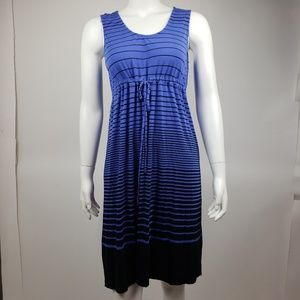 Soma Blue Striped Dress Medium